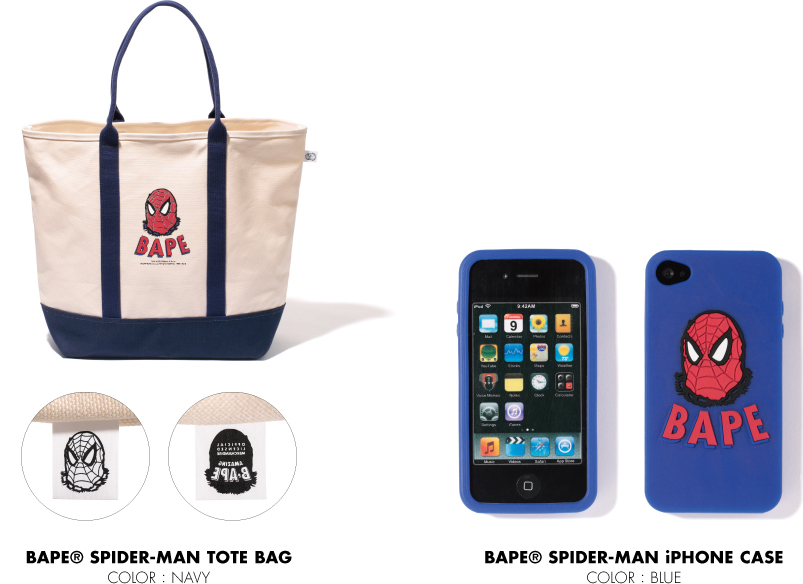 BAPE® SPIDER-MAN TOTE BAG BAPE® SPIDER-MAN iPHONE CASE