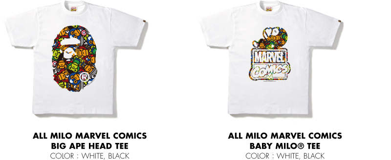 ALL MILO MARVEL COMICS BIG APE HEAD TEE ALL MILO MARVEL COMICS BABY MILO® TEE