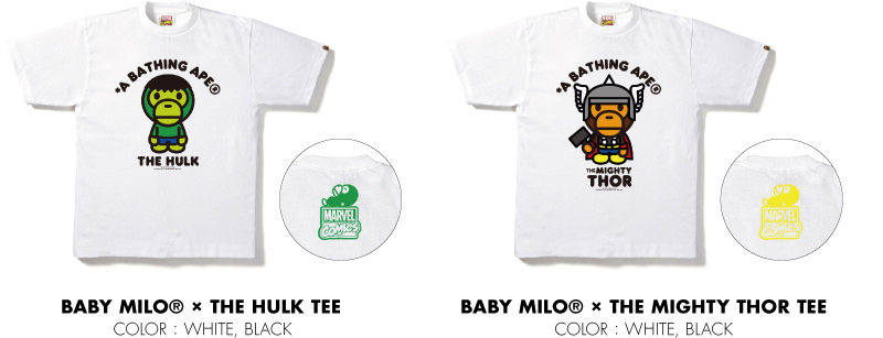 BABY MILO® × CAPTAIN THE HULK TEE BABY MILO® × THE MIGHTY THOR TEE