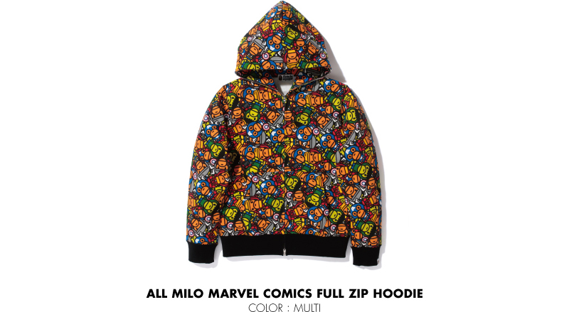 ALL MILO MARVEL COMICS FULL ZIP HOODIE