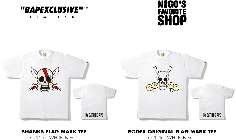 BAPEXCULSIVE™ NIGO®'S FAVORITE SHOP SHANKS FLAG MARK TEE ROGER ORIGINAL FLAG MARK TEE