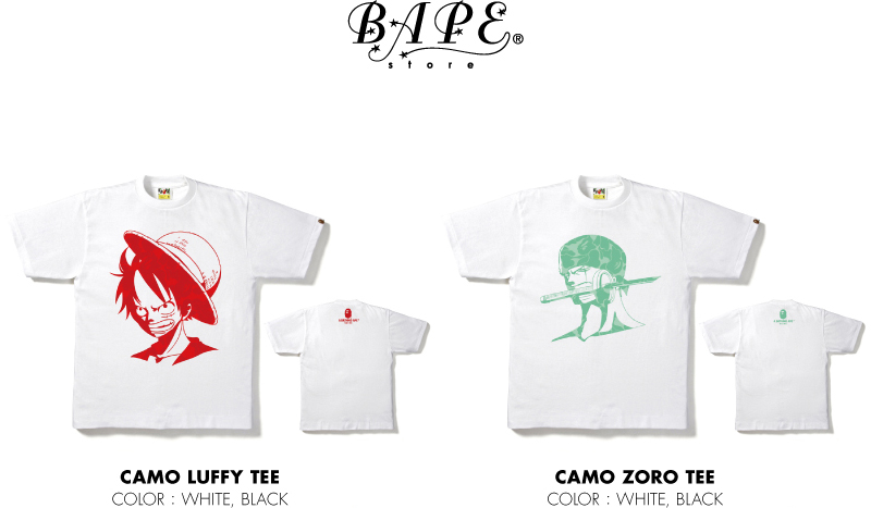 BAPE&reg; STORE CAMO LUFFY TEE CAMO ZORO TEE