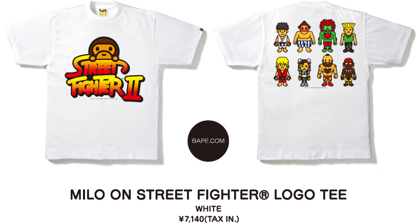 MILO ON STREET FIGHTER® LOGO TEE